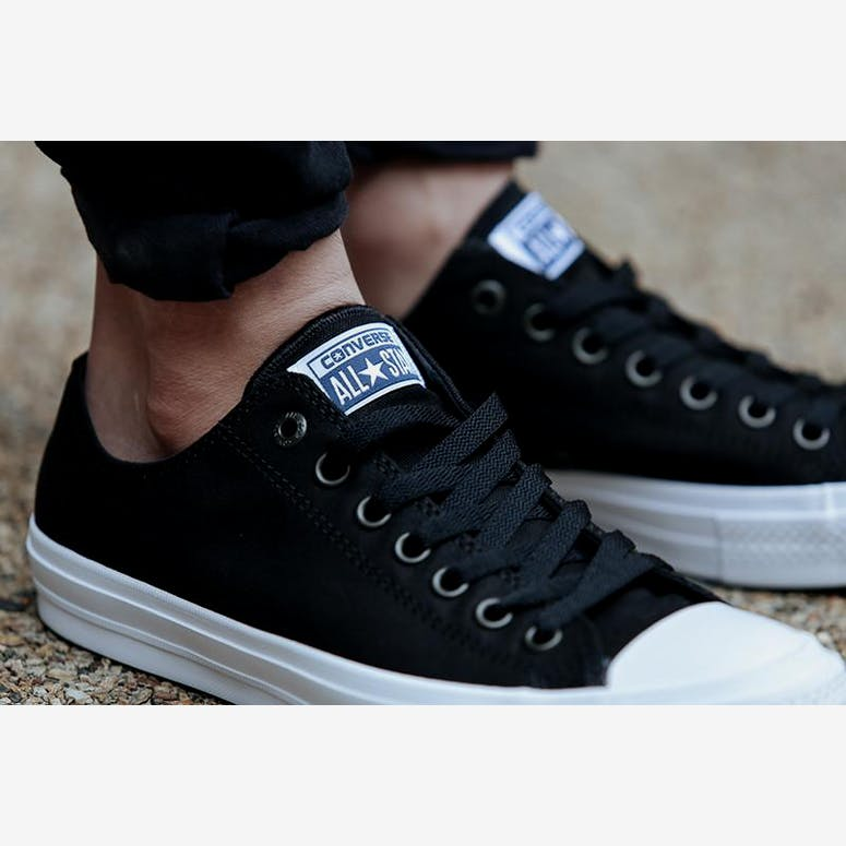 Converse Chuck Taylor All Star II OX Black white – Culture Kings 6025a0d1e