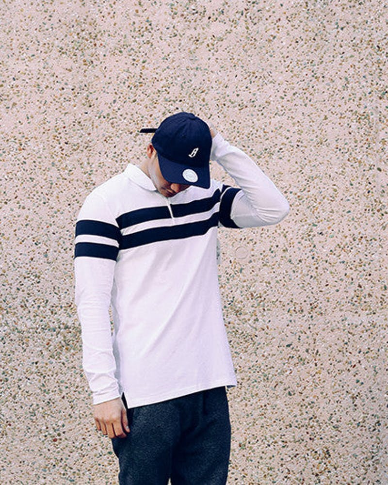 Miniature B Logo Navy/white