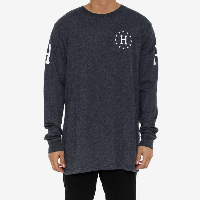 Audible Long Sleeve Tee Navy/white