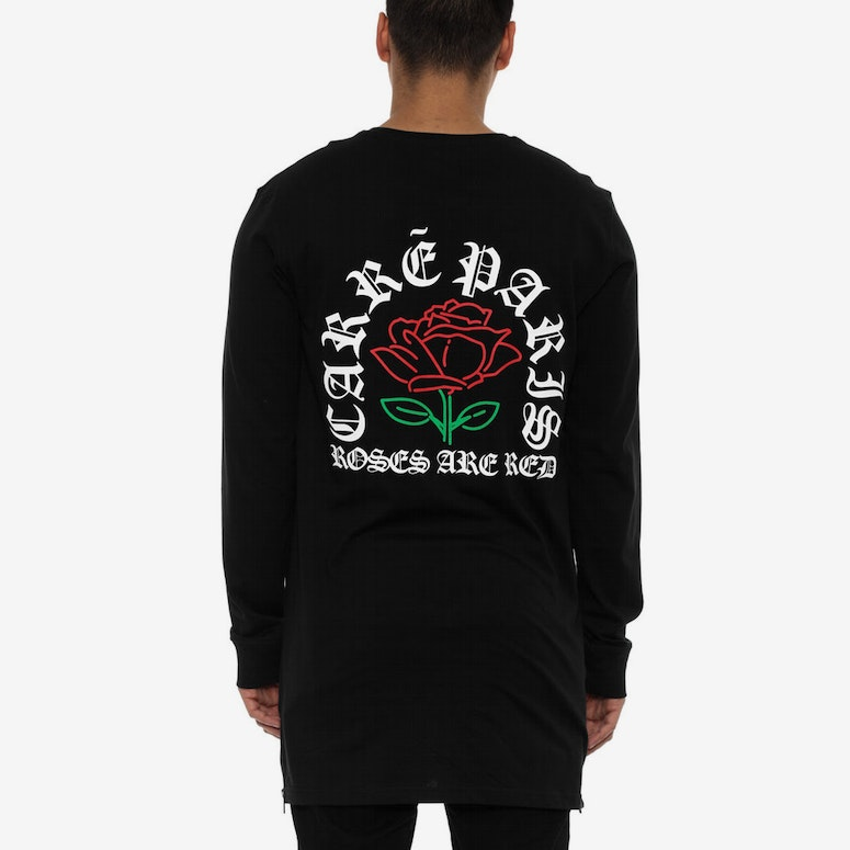 Roses Are Red Capone Long Sleeve Tee Black