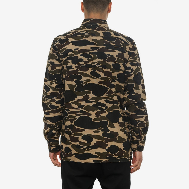 Trip Long Sleeve Button-up Camo