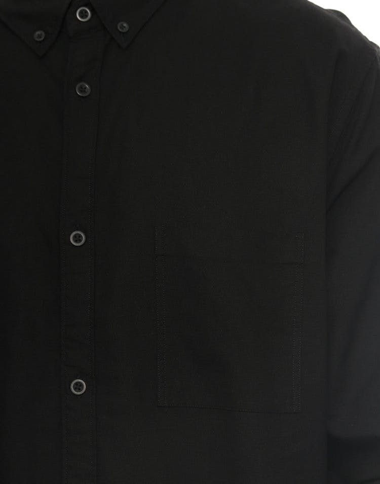 Seven Foot Long Sleeve Button up Black