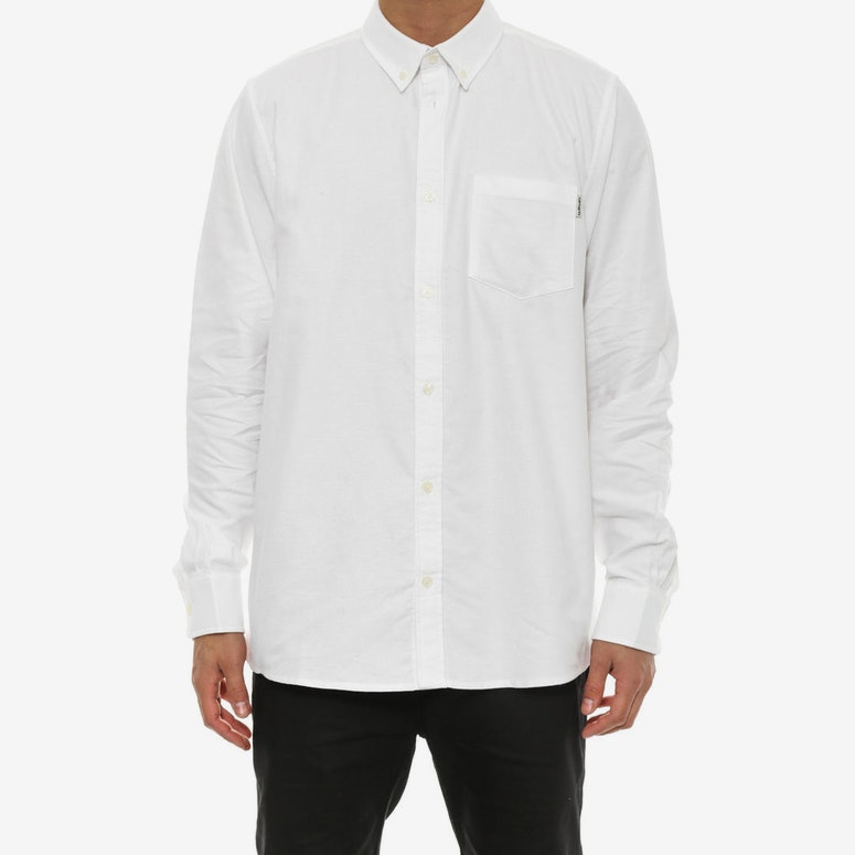 Raymond Long Sleeve Button-up White