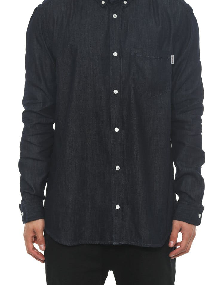 Civil Long Sleeve Button-up Blue