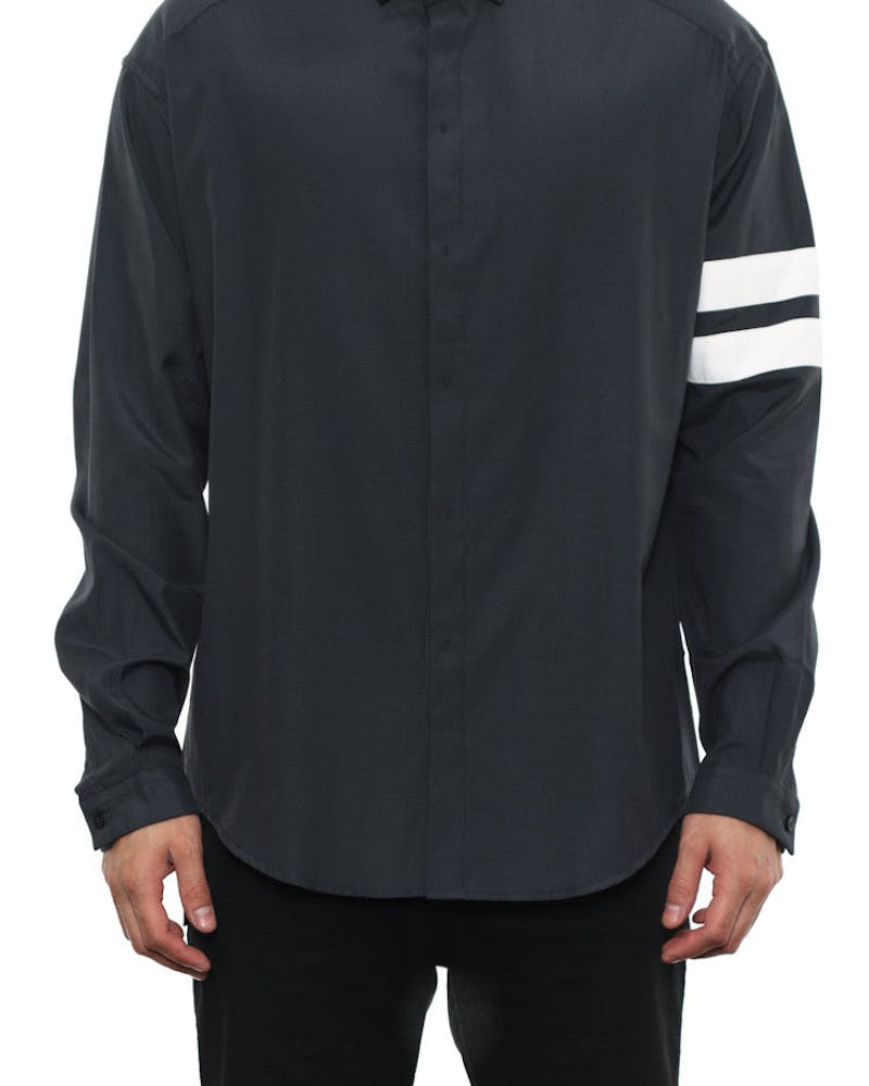 Long Sleeve Button up Black/white