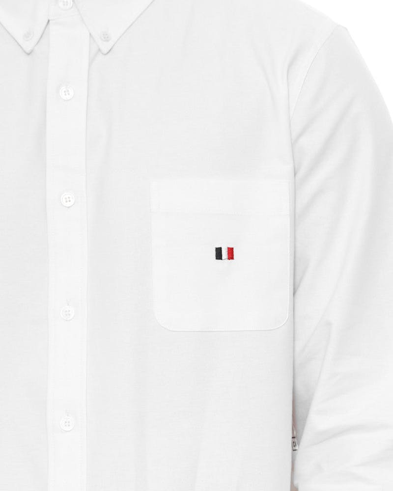 Oxford Button up L/sl White