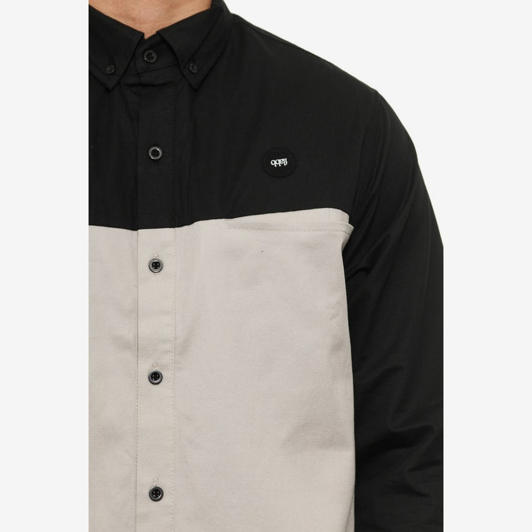 Trilateral Long Sleeve Shirt Black/white/gre