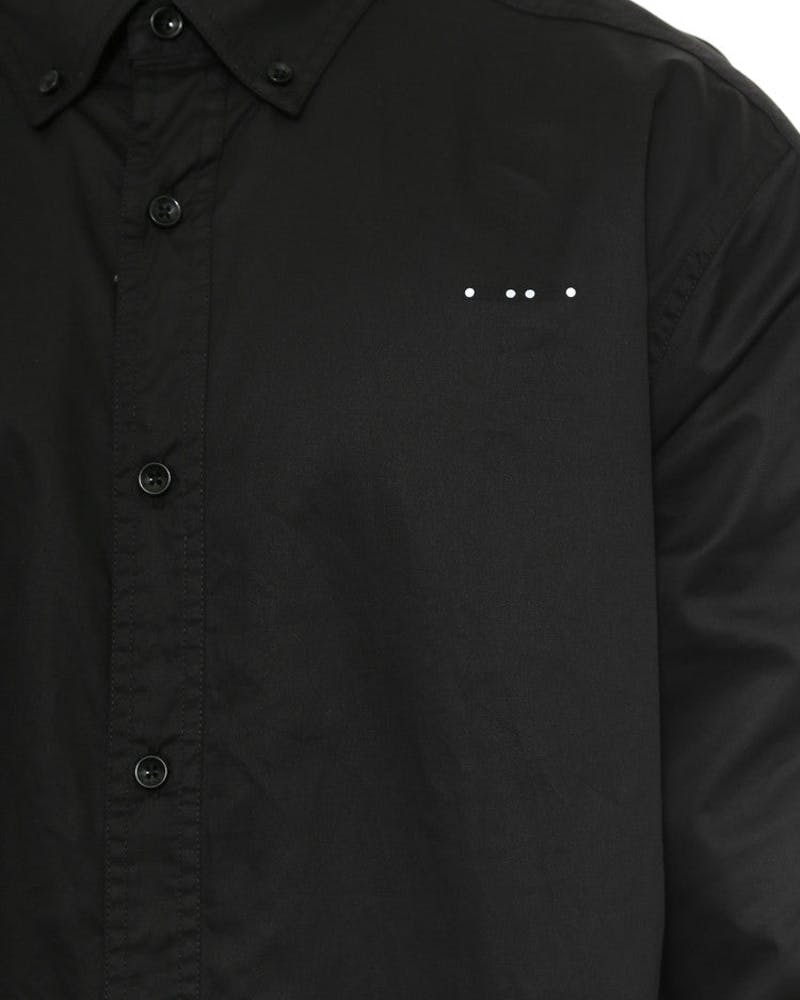 Fornax Long Sleeve Button-up Black