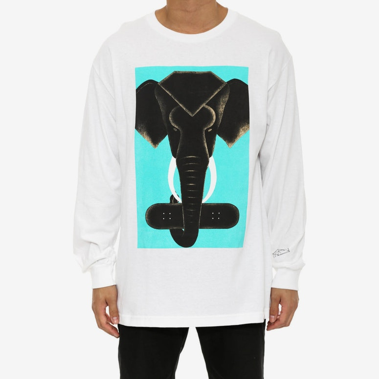 Tusk Long Sleeve Tee White