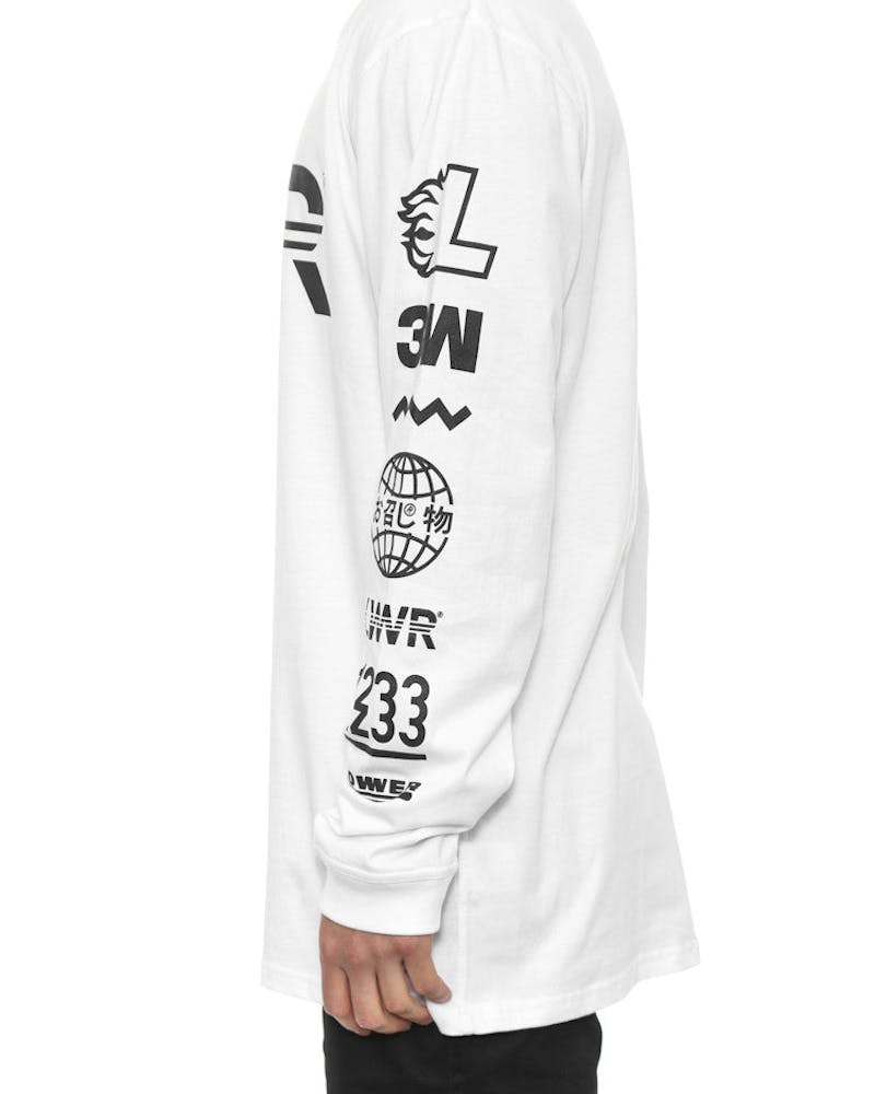 Qrs Long Sleeve Tee Listed White