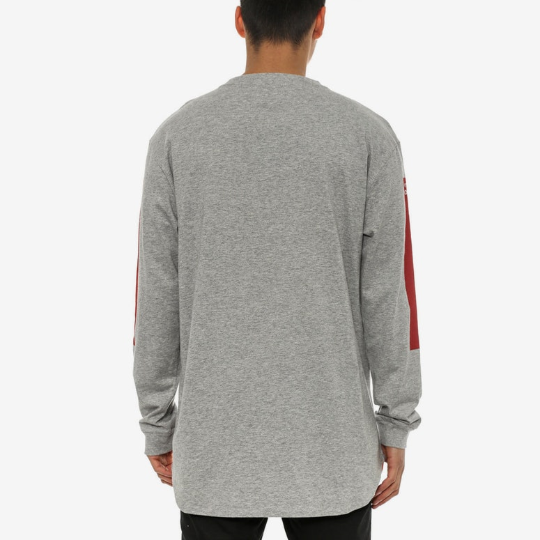 No.38 Long Sleeve Scallop Tee Heather Grey/bu