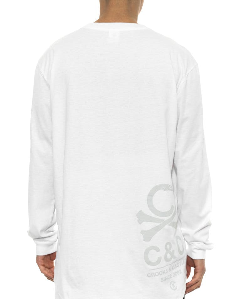 C-bones Long Sleeve Scallop Tee White/grey