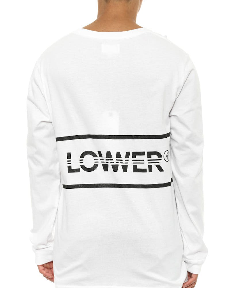 42k Qrs Long Sleeve Tee White