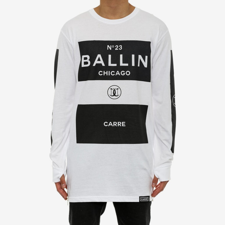 Ballin Blocks Capone 2 Long Sleeve White
