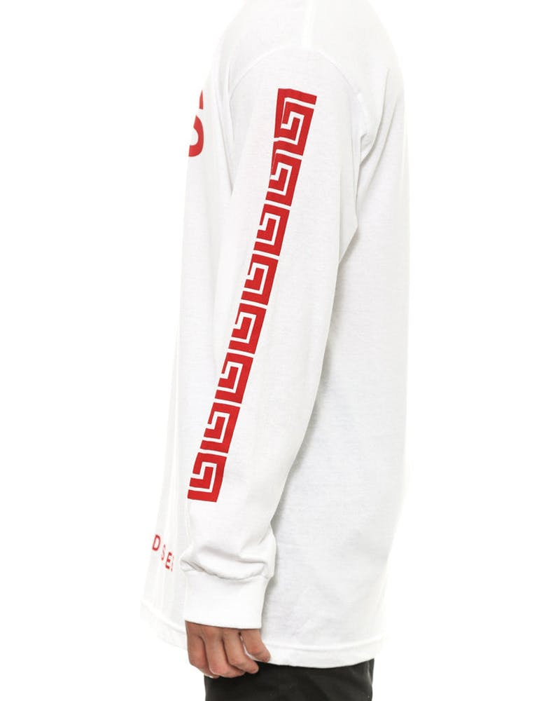 Greco Crks Long Sleeve White