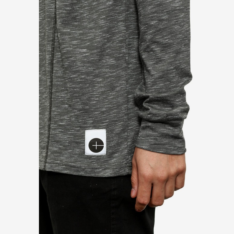 Speckled Grey Long Sleeve Tee Black