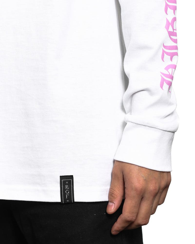 Rgf X HC High AS Hell Long Sleeve Tee White