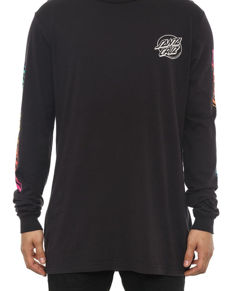 Hand Fade Long Sleeve Tee Black
