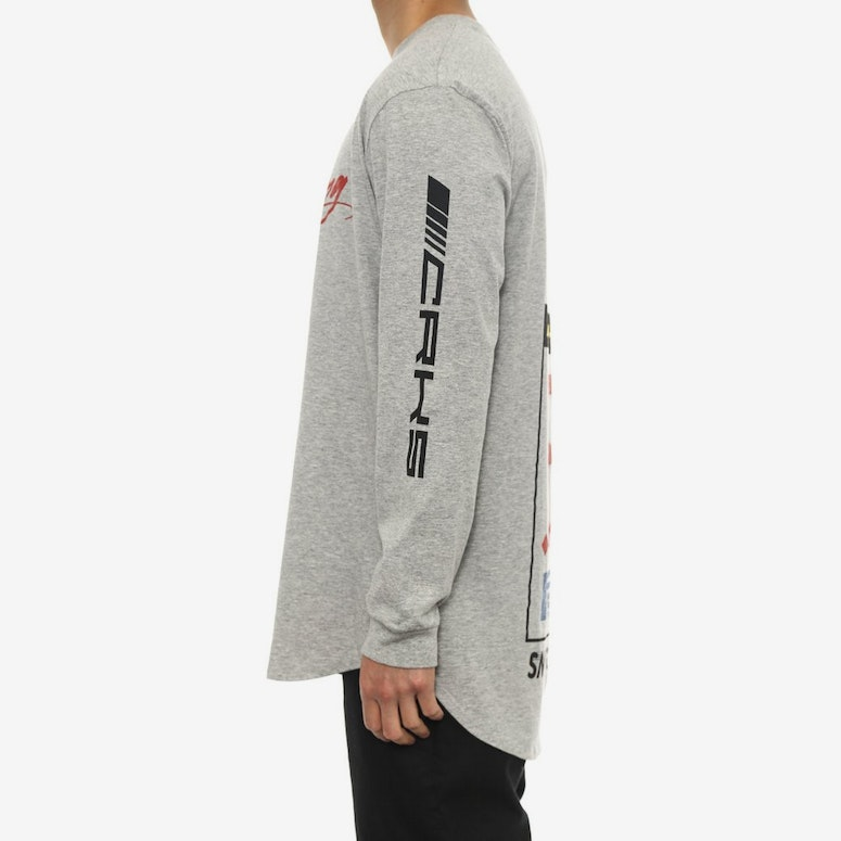 Crks Racing Long Sleeve Scallop T Grey/multi-colo