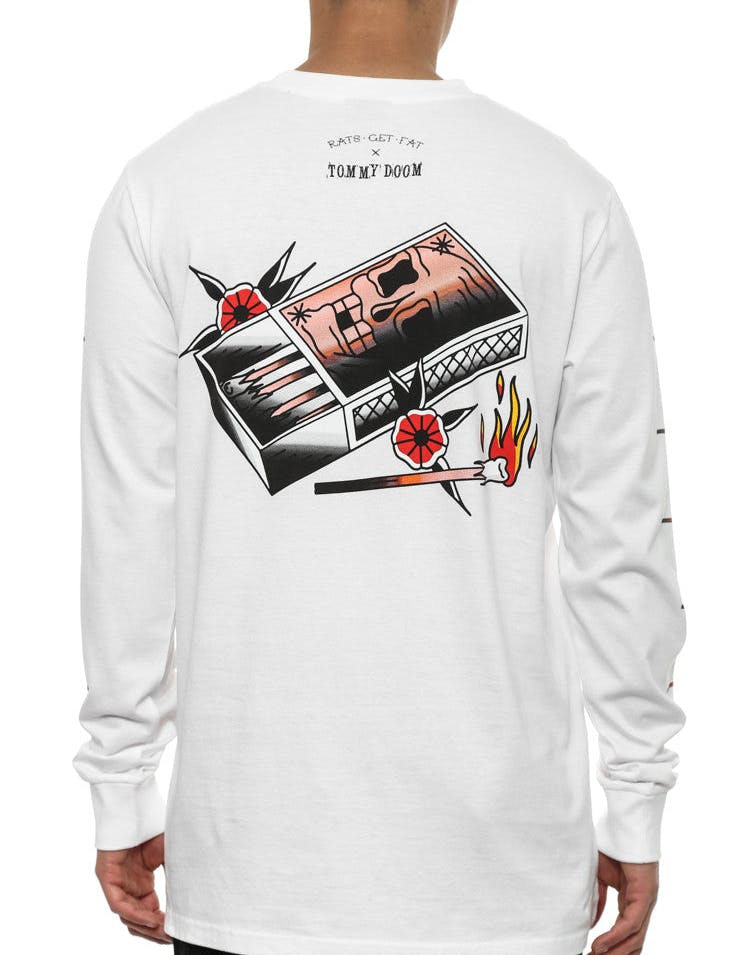 Rgf X TD Ignite Long Sleeve T White