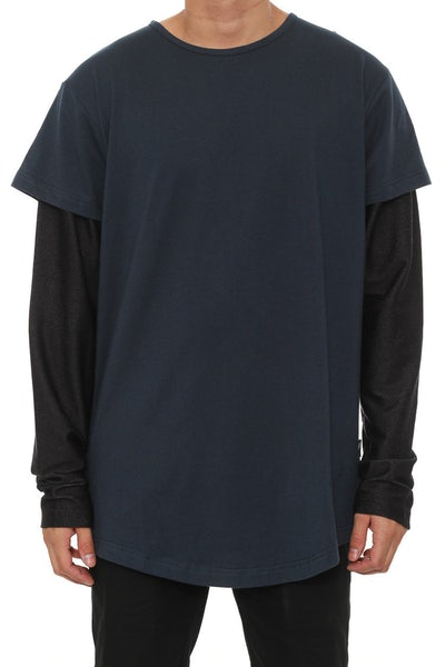 Vitale Knit Long Sleeve Navy