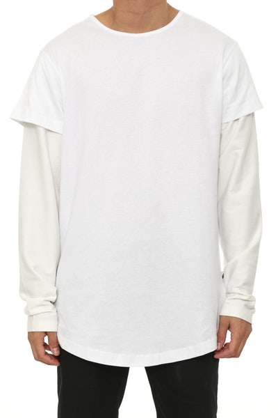 Vitale Knit Long Sleeve White