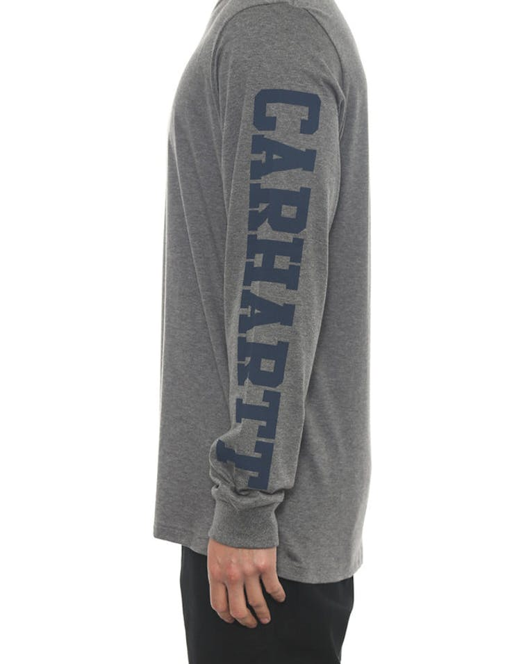 College Left Long Sleeve Tee Grey/blue