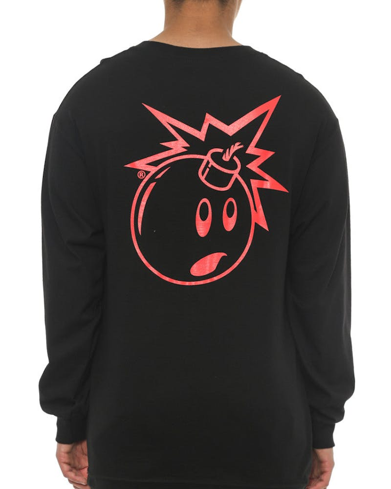 Simple Adam Long Sleeve Tee Black/pink