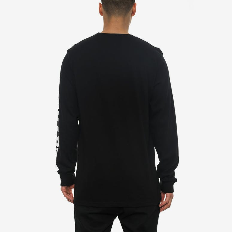 College Left Long Sleeve Tee Black/white