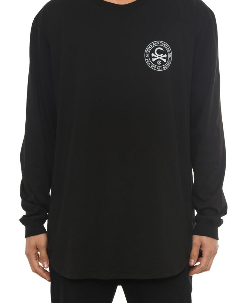 C-bones Long Sleeve Scallop Tee Black/grey