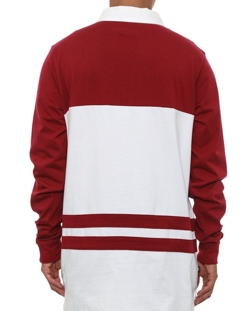SS Link Rugby Long Sleeve Wine