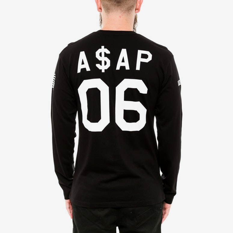 Anarchy Baseball Long Sleeve Black