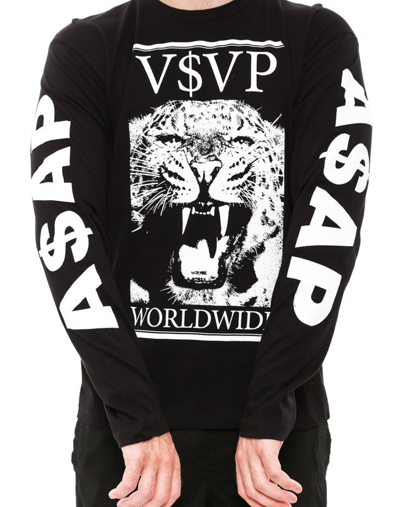 Tiger Long Sleeve Tee Black