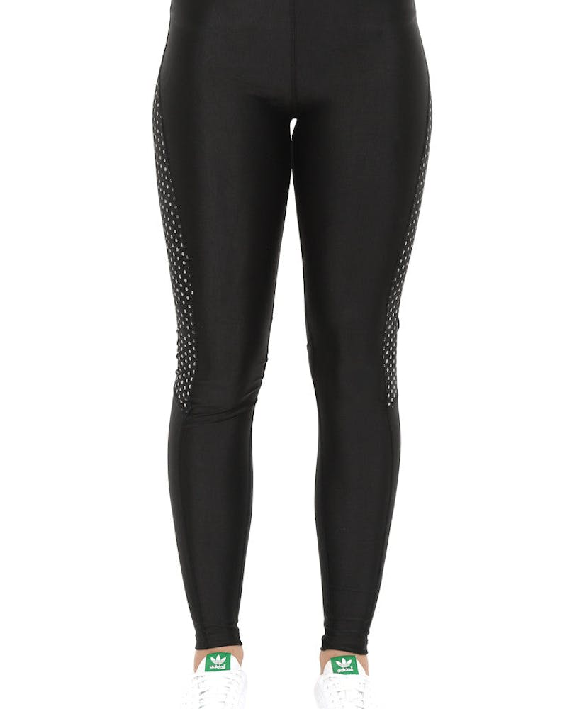 Reflective Dots Womens Tights Black