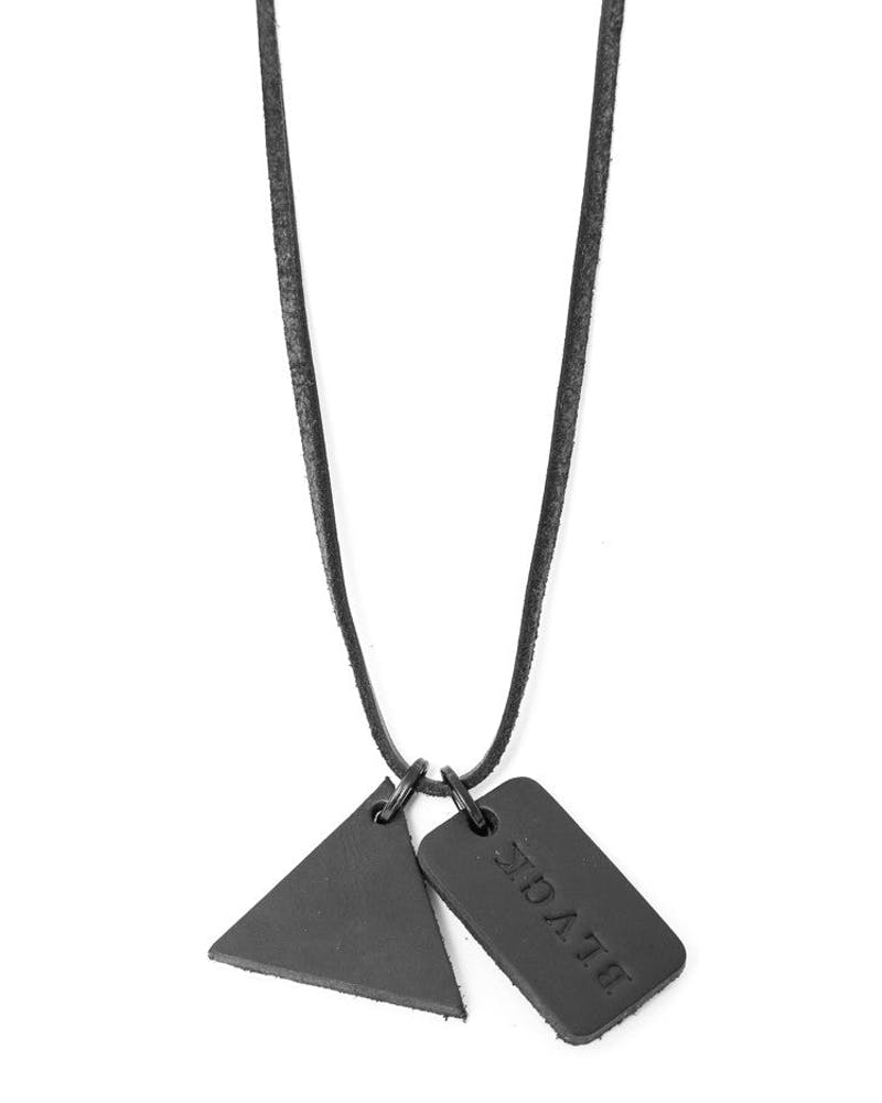 Trinity Leather Dog Tags Black