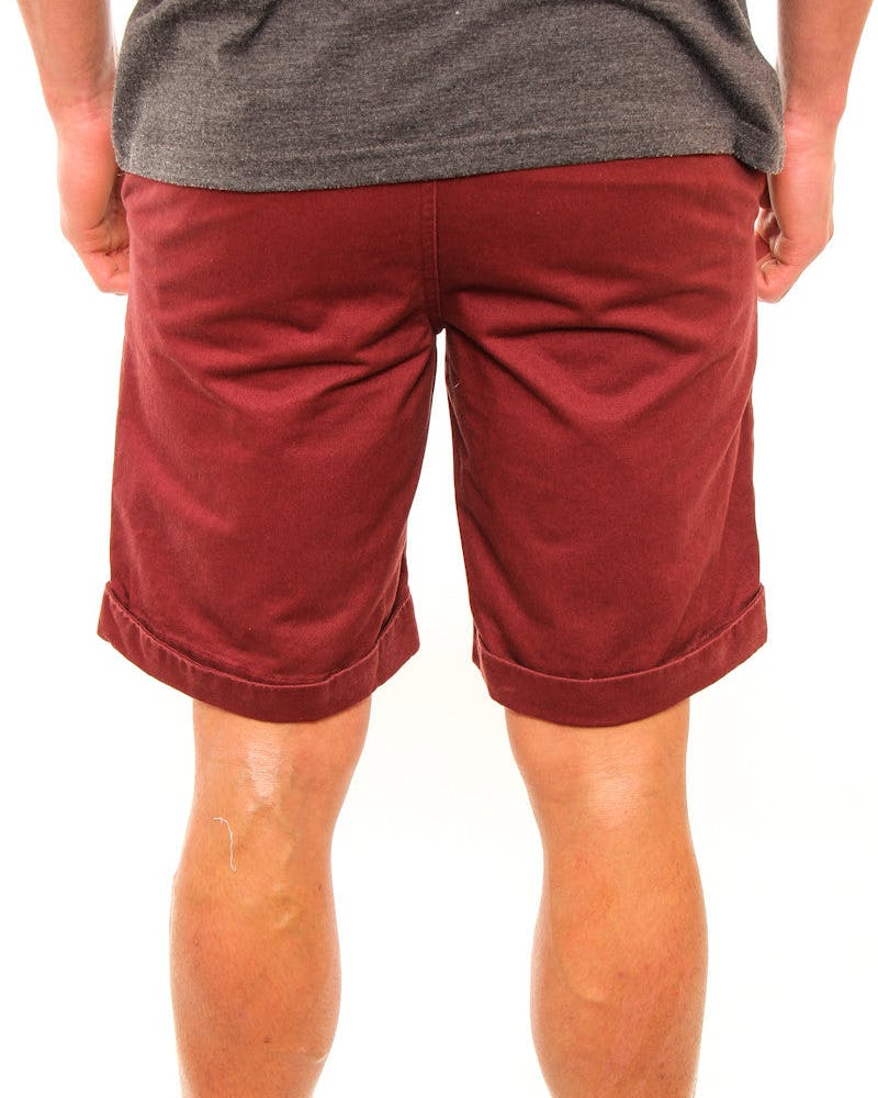 Kings Rolled Chino Short Burgundy