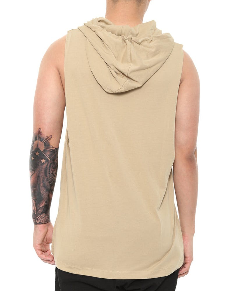 Cahill + Empire Hooded Muscle Tee Sand