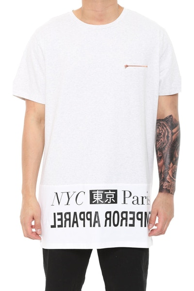Mode Tee Grey/white