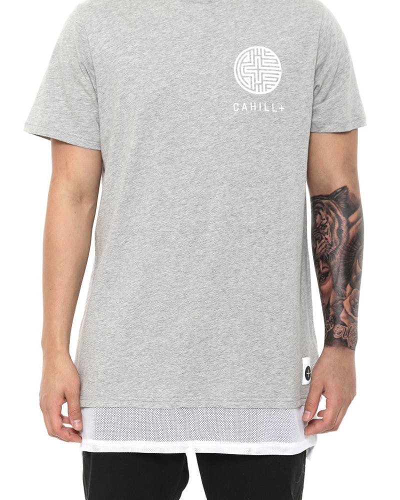 Fortune Tee Grey/white