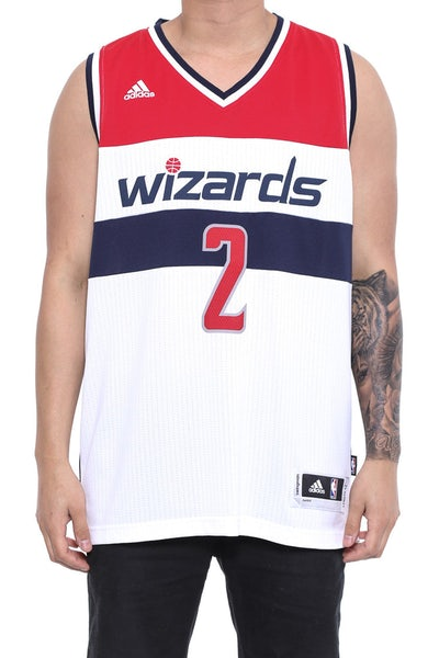 Wizards 2 Wall Swingman Jersey White/red/navy