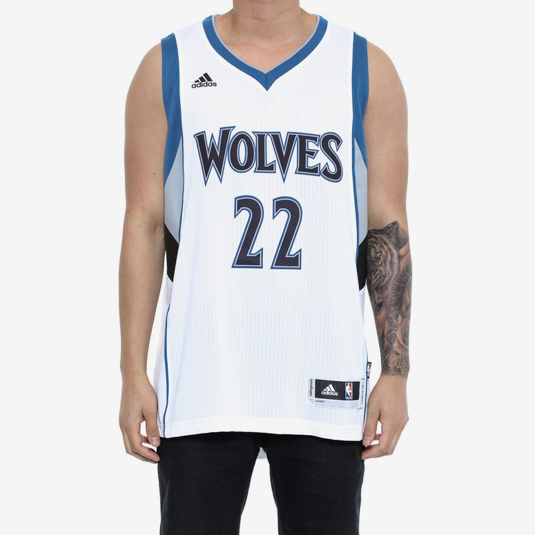 Wolves 22 Wiggins Swingman Jersey White