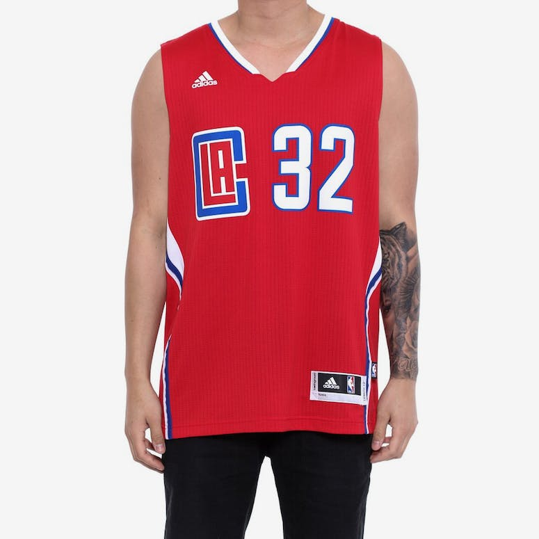 3ed5496b6 Adidas Performance Clippers 32 Griffin Swingman Jersey Red – Culture Kings