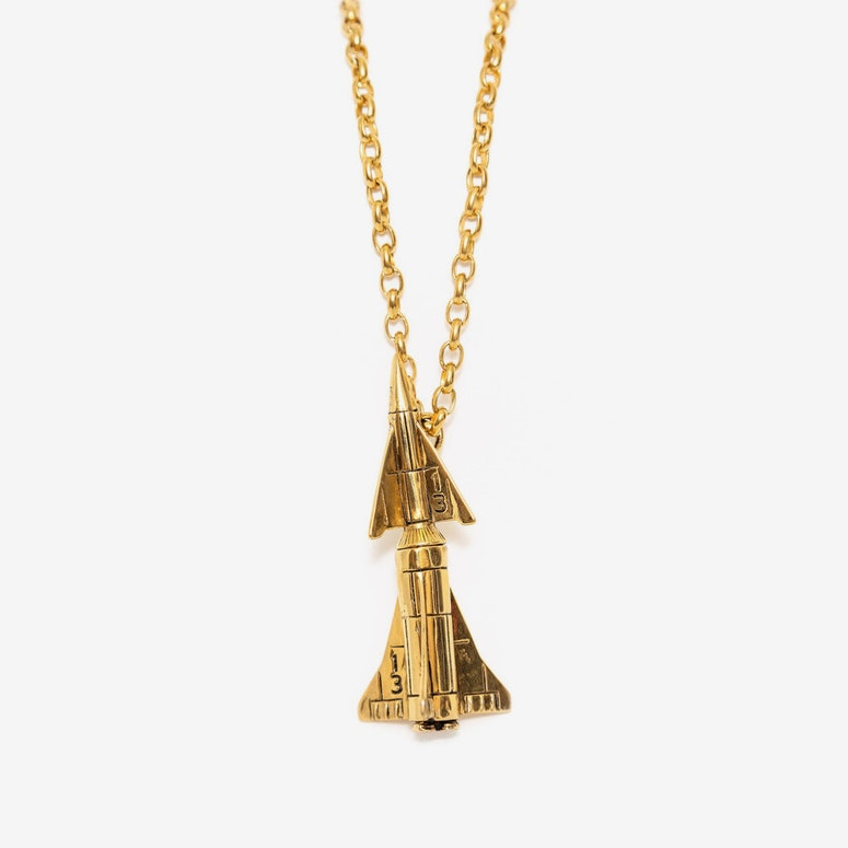 Rocket Blast Pendant Gold