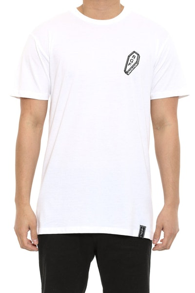 Coffin Pocket Print Tee White