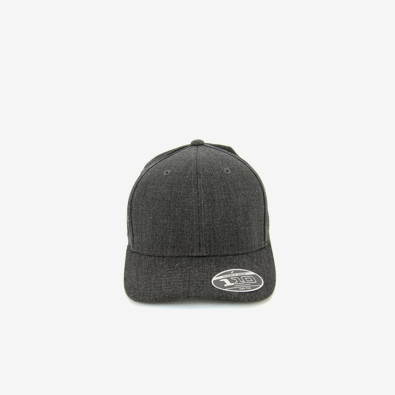 Banker 110 Curved Snapback Dark Grey Heath