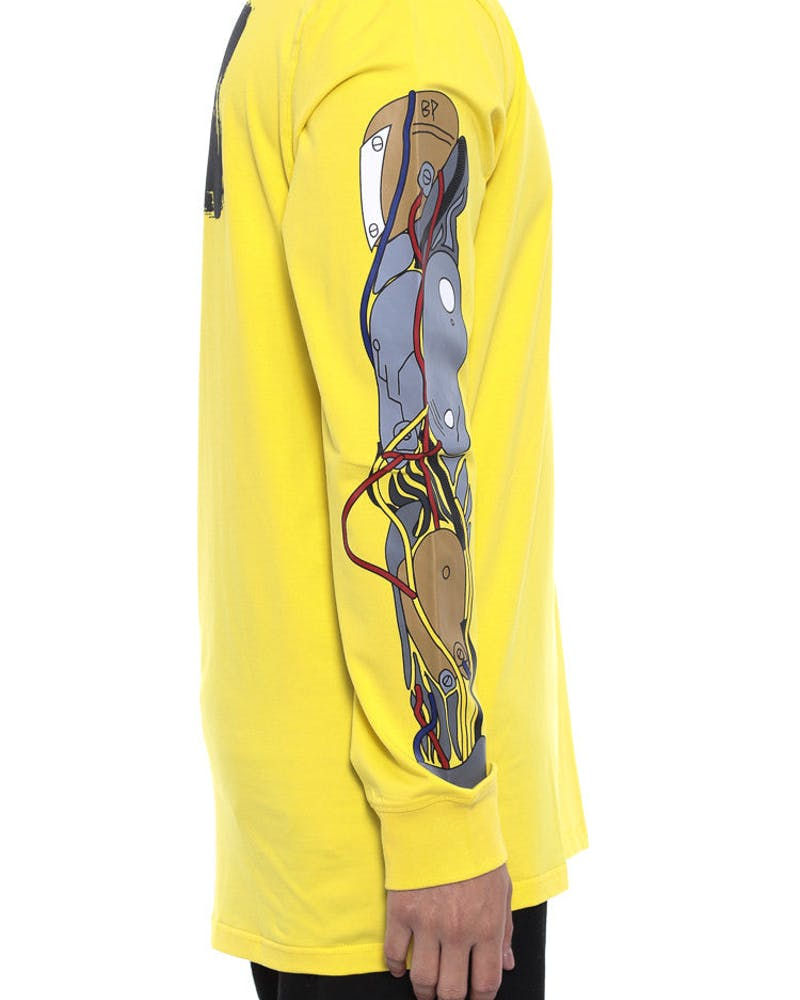 Strong Arm Long Sleeve Tee Yellow