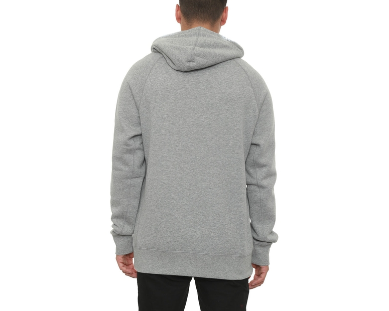Jumpman Brushed F/z Hood Grey/black