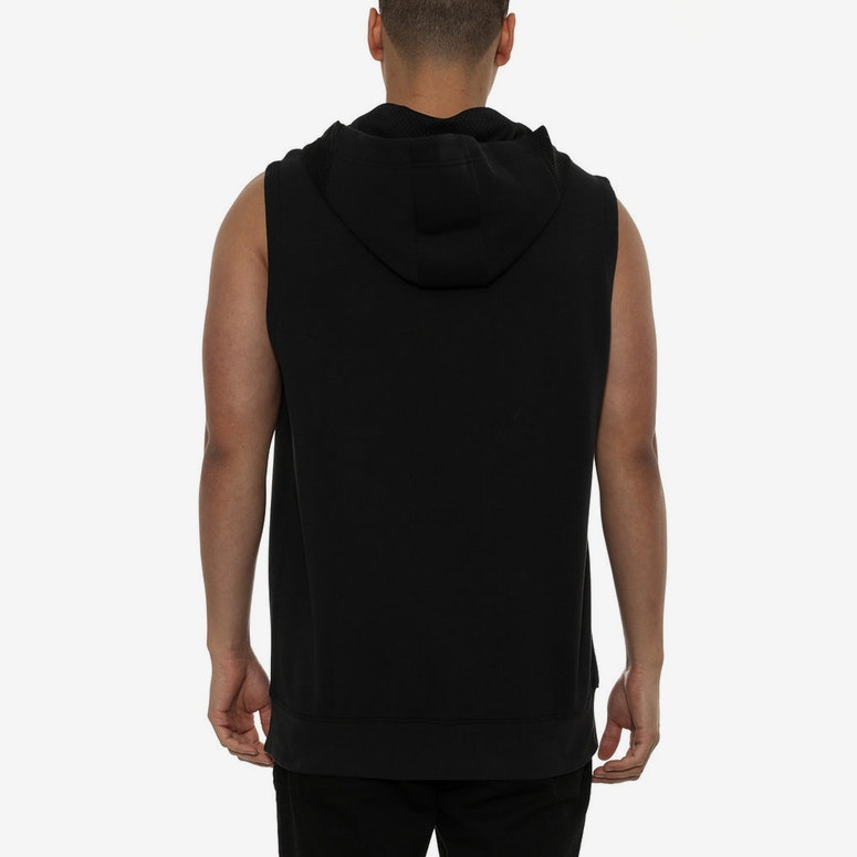 Lite Fleece Short Sleeve Hoodie Black/black