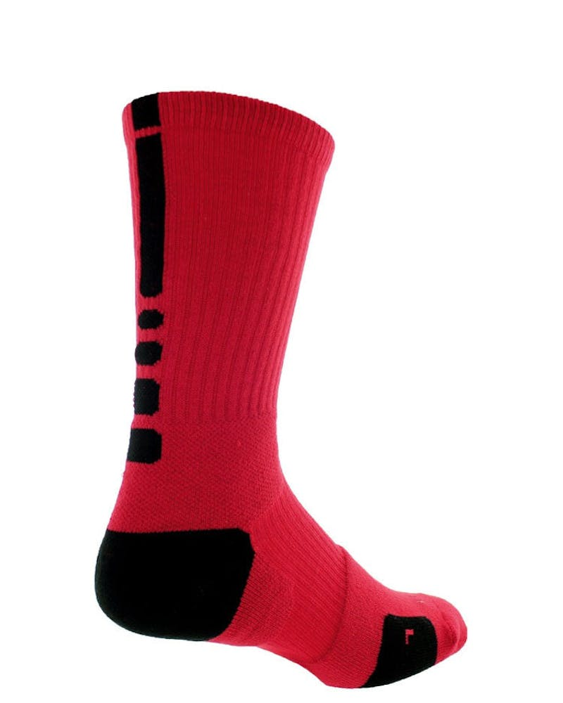 Elite Basketball Dri-fit Sock Red/black