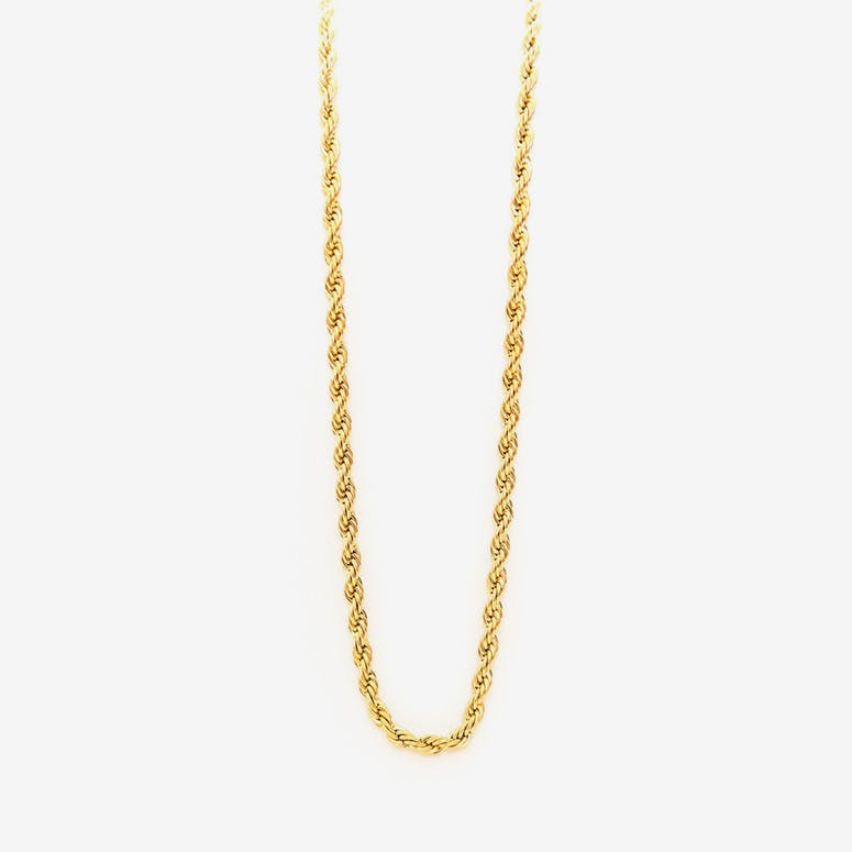 Brass Logo Chain 30 Gold
